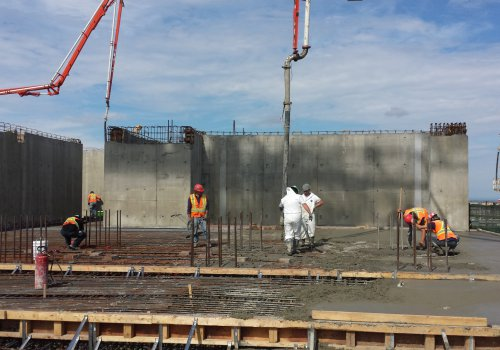 Participation on many construction sites - TPG Concrete Pumping