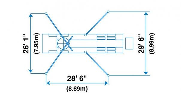 Pompes à béton à louer : Pompe a mât 47RZ :